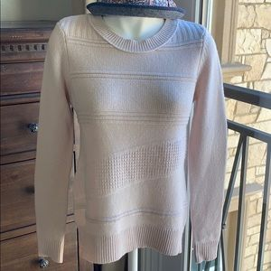DVF blush nude cashmere sweater